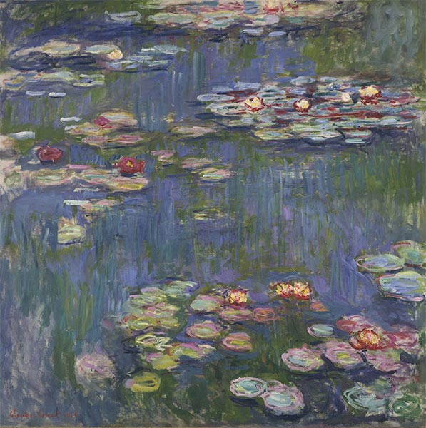 Water Lilies, 1916 | Monet | Painting Reproduction