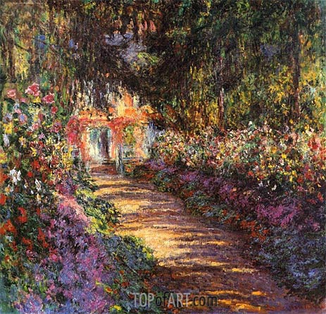 The Flowered Garden, Giverny, c.1901/02 | Monet | Painting Reproduction