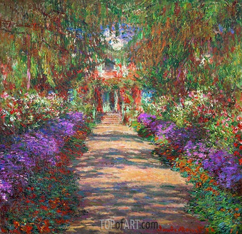 Pathway in Monet's Garden at Giverny, c.1901/02 | Monet | Painting Reproduction