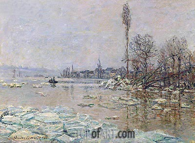 Le debacle - The Ice-Flows (Breakup of Ice), 1880 | Monet | Painting Reproduction