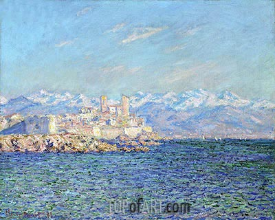Antibes, Afternoon Effect, 1888 | Monet | Painting Reproduction