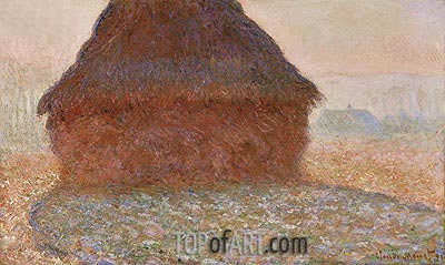 Haystack in the Sunlight, 1890 | Monet | Painting Reproduction