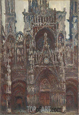 Rouen Cathedral, Evening, Harmony in Brown, 1894 | Monet | Painting Reproduction