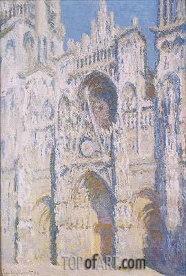 Rouen Cathedral in Full Sunlight: Harmony in Blue and Gold, 1894 | Monet | Painting Reproduction