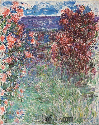 The House among the Roses, 1925 | Monet | Painting Reproduction