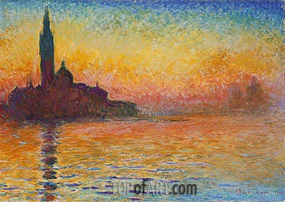 San Giorgio Maggiore by Twilight, 1908 | Monet | Painting Reproduction
