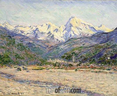 The Valley of the Nervia, 1884 | Monet | Gemälde Reproduktion