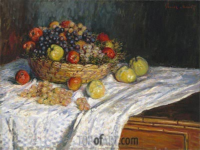 Apples and Grapes, c.1879/80 | Monet | Painting Reproduction