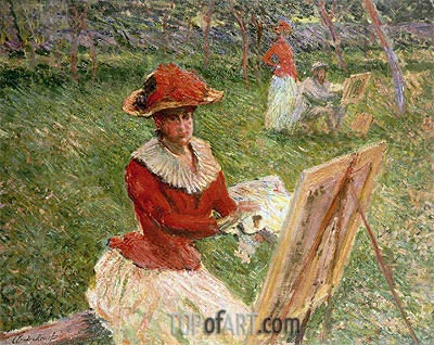 Blanche Hoschede Painting, 1892   Monet   Painting Reproduction