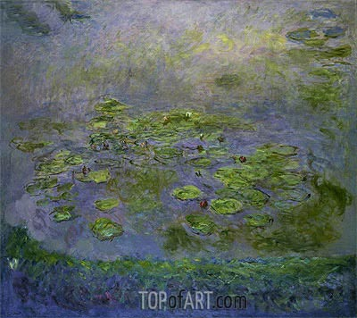 Nympheas (Water Lilies), c.1914/17 | Monet | Gemälde Reproduktion