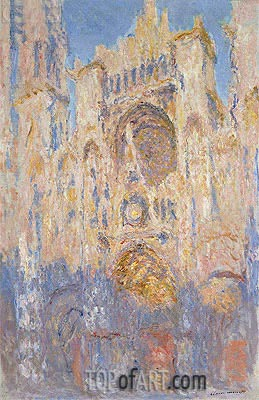 Rouen Cathedral, Effects of Sunlight, Sunset, 1892 | Monet | Painting Reproduction