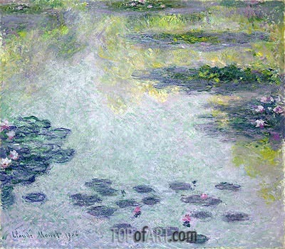 Water Lilies, 1906 | Monet | Painting Reproduction