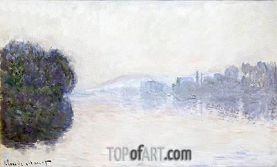 The Seine near Vernon, Morning Effect, c.1894   Monet   Painting Reproduction