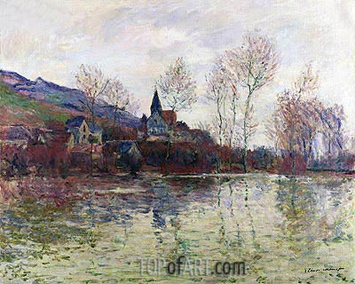 Floods at Giverny, 1886 | Monet | Painting Reproduction