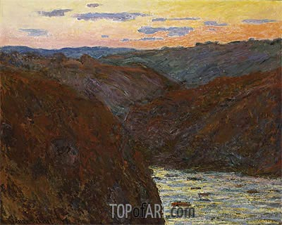 The Creuse, Sunset, 1889 | Monet | Painting Reproduction