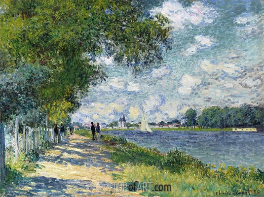 The Seine at Argenteuil, 1875 | Monet | Painting Reproduction
