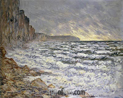 Seafront, Fecamp, 1881   Monet   Painting Reproduction