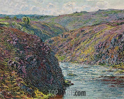 Ravines of the Creuse at the End of the Day, 1889   Monet   Painting Reproduction