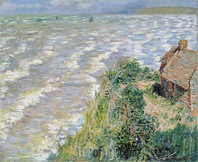 Rising Tide at Pourville, 1882   Monet   Painting Reproduction