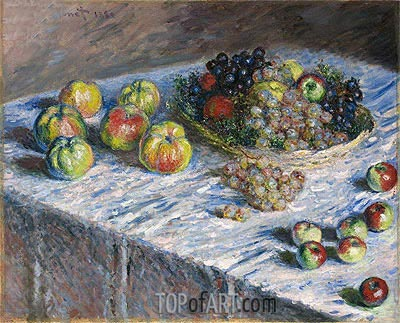 Apples and Grapes, 1880 | Monet | Painting Reproduction
