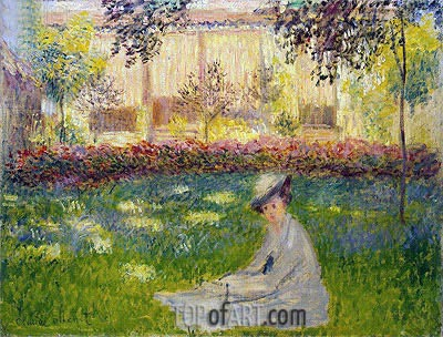 Woman in a Garden, 1876 | Monet | Painting Reproduction