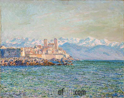 The Fort of Antibes, 1888 | Monet | Painting Reproduction