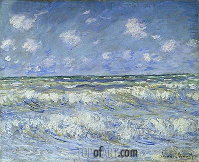 A Stormy Sea, c.1884 | Monet | Painting Reproduction