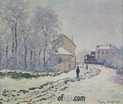 Snow in Argenteuil, 1875   Monet   Painting Reproduction