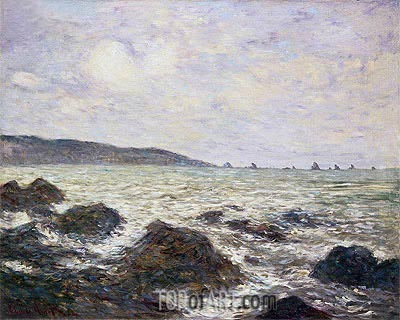 Coast of Normandy, 1882 | Monet | Painting Reproduction