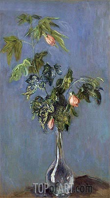 Flowers in a Vase, 1888 | Monet | Painting Reproduction