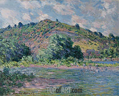 Banks of the Seine at Port-Villez, 1885 | Monet | Gemälde Reproduktion