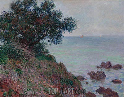 Coasts of the Mediterranean, Time Gray, 1888 | Monet | Painting Reproduction
