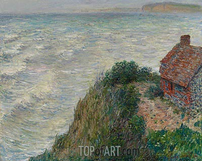 Fisherman's House at Petit Ailly, 1882 | Monet | Painting Reproduction