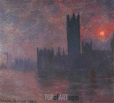 London, Houses of Parliament, Sunset, 1903 | Monet | Painting Reproduction