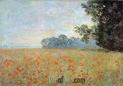 Oat and Poppy Field, 1890 | Monet | Painting Reproduction
