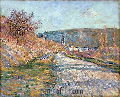The Road to Vetheuil, 1879 | Monet | Painting Reproduction