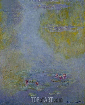 Water Lilies (Nympheas), 1908 | Monet | Painting Reproduction