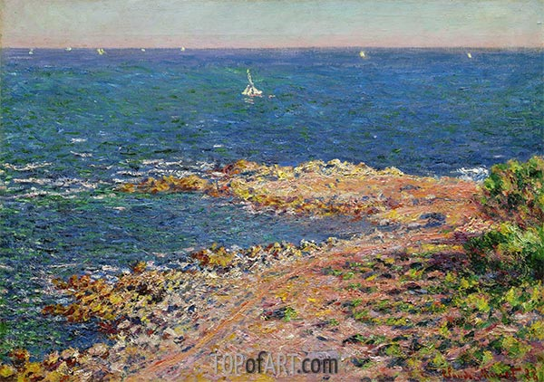 The Mediterranean by Mistral Wind, 1888 | Monet | Painting Reproduction