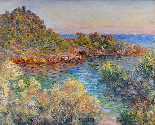 Near Monte Carlo, 1883 | Monet | Painting Reproduction