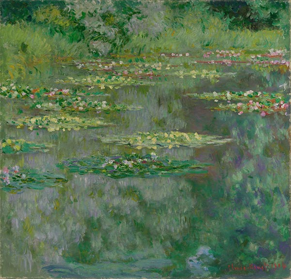 Waterlilies or The Water Lily Pond (Nympheas), 1904   Monet   Painting Reproduction