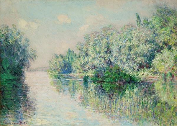 The Seine near Giverny, 1885   Monet   Painting Reproduction