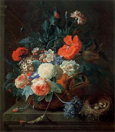 An Arrangement of Flowers in a Vase, 1724 von Coenraet Roepel | Gemälde-Reproduktion