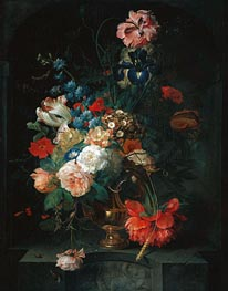Still Life with Flowers, 1721 von Coenraet Roepel | Gemälde-Reproduktion