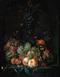 Still Life with Fruit, 1721 von Coenraet Roepel | Gemälde-Reproduktion