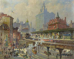 Chatham Square, 1919 by Colin Campbell Cooper | Painting Reproduction