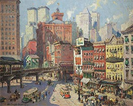 South Ferry, New York, 1917 by Colin Campbell Cooper | Painting Reproduction