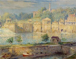Old Waterworks, Fairmount, 1913 by Colin Campbell Cooper | Painting Reproduction