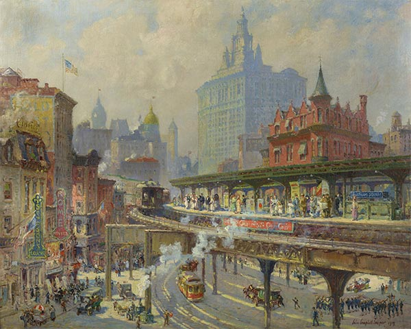Chatham Square, 1919 | Colin Campbell Cooper | Painting Reproduction