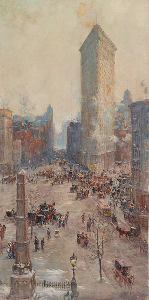 Flat Iron Building, 1904   Colin Campbell Cooper   Painting Reproduction