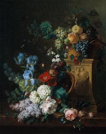 Still Life with Flowers and Fruits, 1804 von Cornelis van Spaendonck | Gemälde-Reproduktion